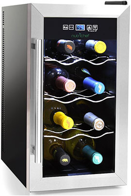 NutriChef Countertop Wine Cooler