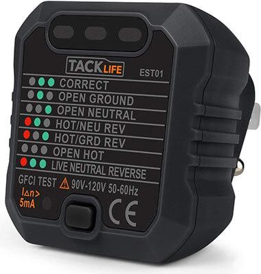 TACKLIFE GFCI Receptacle Tester