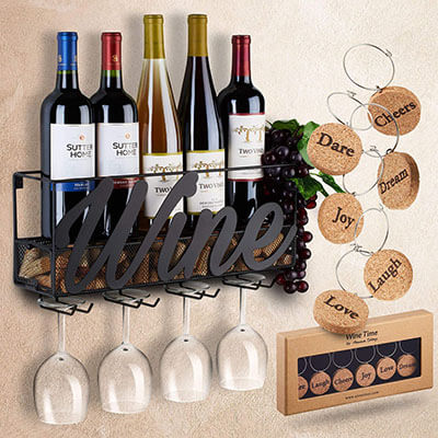 TrivetRunner Wall Wine Rack