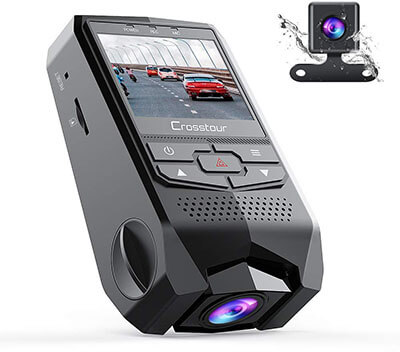 Crosstour Dual Dash Cam FHD 1080P Mini Dual