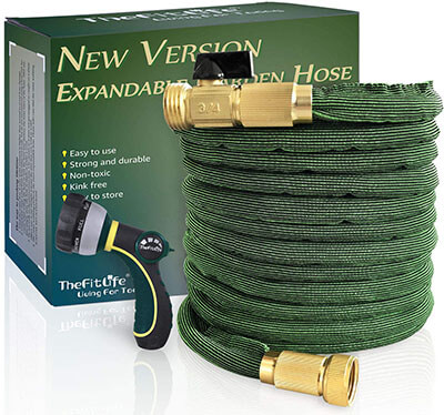 TheFitLife Flexible and Expandable Garden Hose