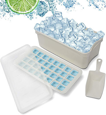 JYTEE Ice Cube Bin Scoop Trays