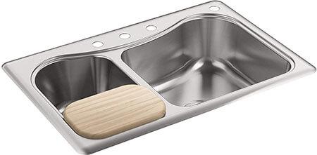Kohler K-3361-4-NA Stainless Steel Kitchen Sink