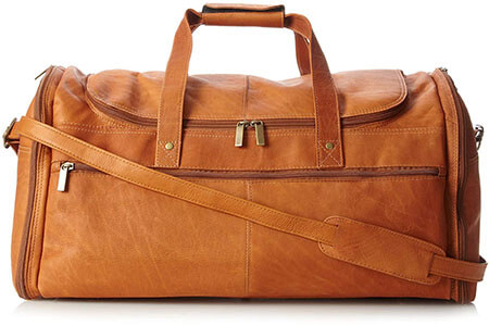 David King & Co Leather Duffle Bag