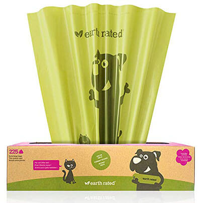 Earth Rated Extra Large Poop Bags for Large Dogs