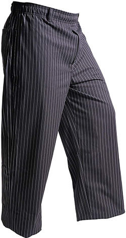Mercer Culinary Millennia Men's Black Cook Pants