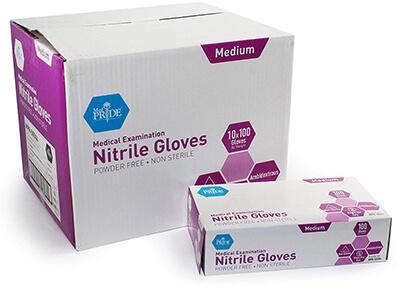 MED PRIDE Nitrile Exam Gloves