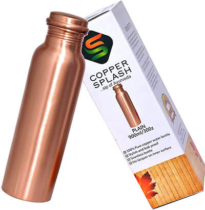 Copper Splash-Copper Water Bottle Ayurvedic Pure Copper Vessel