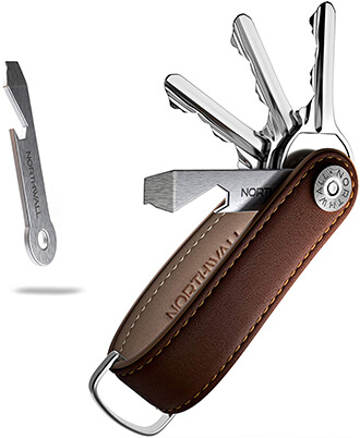 Northwall Smart Key Organizer- Real Leather