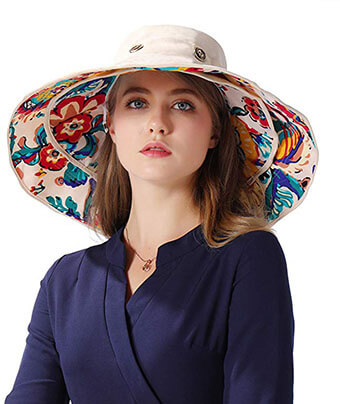 IHomey Packable Extra-Large Brim Floppy Sun Hat