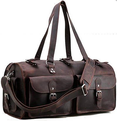 Polare Indiana Jones Leather Duffle Bag