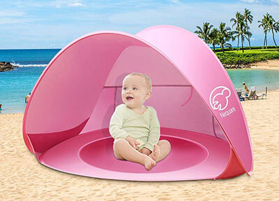 Nequare Pop Up Beach Tent for Baby