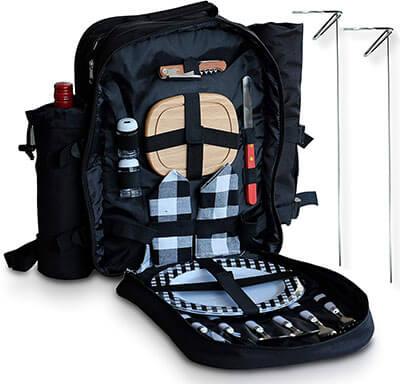 Holt & Oden Complete Picnic Basket with Cooler