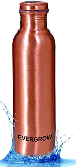 EVERGROW Matt Finish outside Lacqour Coated Leak Proof Copper Bottle