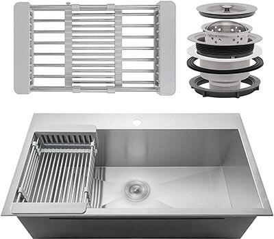 Firebird Single Bowl Kitchen Sink
