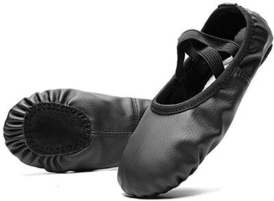 Konhill Leather Ballet Slipper