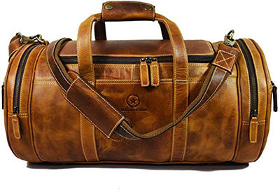 Aaron Leather Travel Bag
