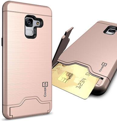 CoverON SecureCard Series Galaxy A8 Plus 2018 Case