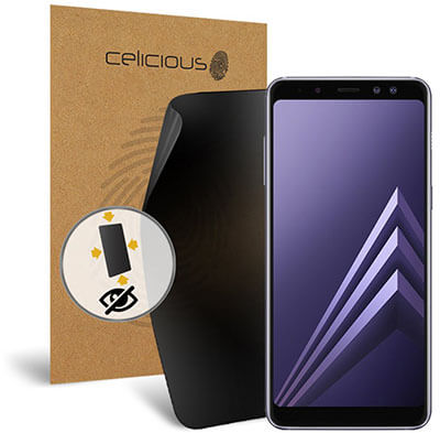Celicious Privacy Plus Screen Protector Compatible with Samsung Galaxy A8 Plus