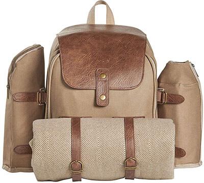 VonShef Outdoor Picnic Backpack Bag-4-Person