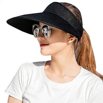 Sun Visor Hats Women Large Brim Beach Cap