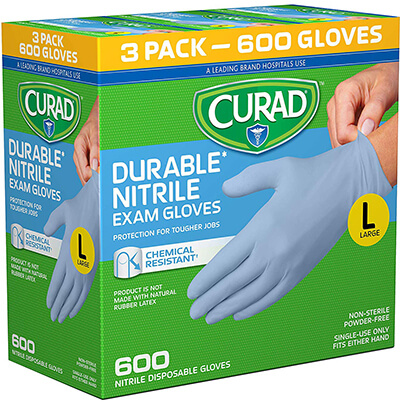 CURAD Disposable Nitrile Gloves