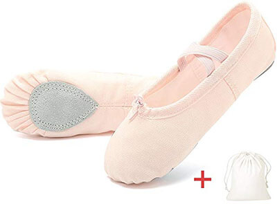 EQUICK Ballet Slipper Shoes for Girls and Women