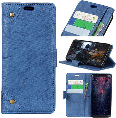 Zhusha Retro PU leather Wallet case for Galaxy J8 2019