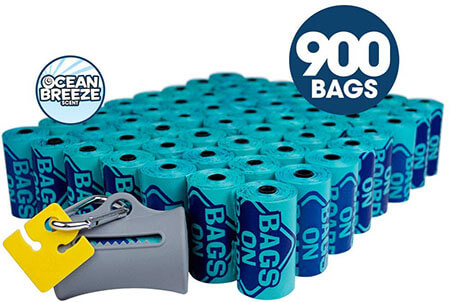Bags on Board Odor Control Dog Poop Bags and Dispenser