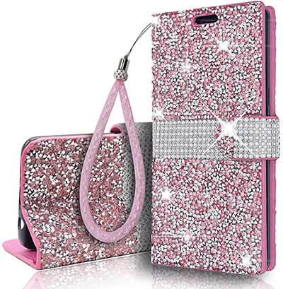 Aokebr Glitter Sparkle Crystal Samsung Galaxy Note9 Wallet