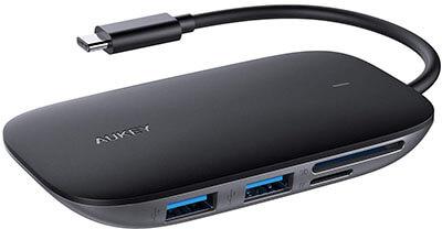 AUKEY USB C Hub, 7-in-1 Adapter