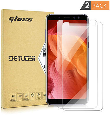 DETUOSI Ultra Clear Samsung A8 2018 Screen Protector