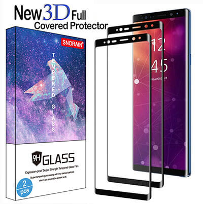 snorain Samsung Galaxy Note 9 Tempered Glass Screen Protector, -2-Pack