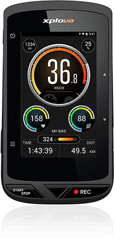 XPLOVA X5 Evo GPS Cycling Computer with Touch Color Screen
