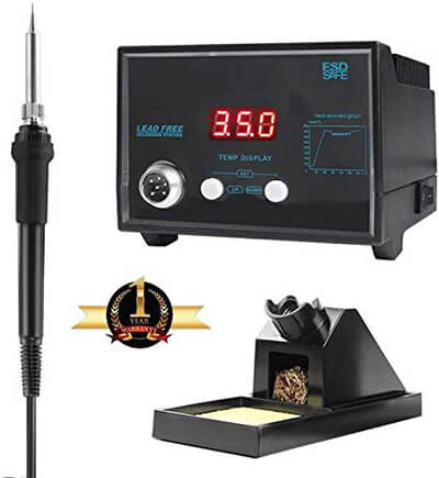 ODELENWA Digital Soldering Iron Station with Stand