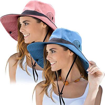 NVorme 2 Pieces Women's Outdoor Sun Hat