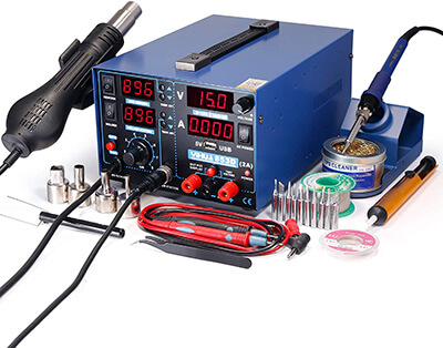 YIHUA 853D 2A USB SMD Hot Air Soldering Iron Station
