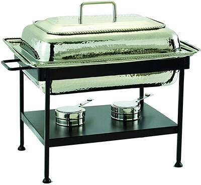 Old Dutch Round Stainless Steel Chafing Dish-21 Inch x 16 Inches x 19 Inches