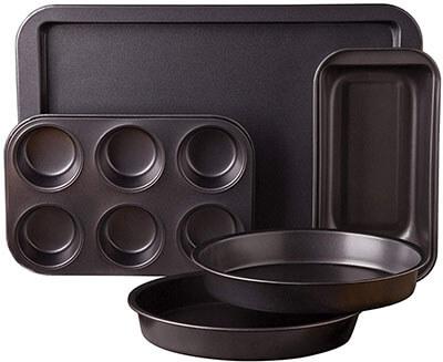Sunbeam 76893.05, Carbon Steel Kitchen Bake 5-Piece Bakeware Set
