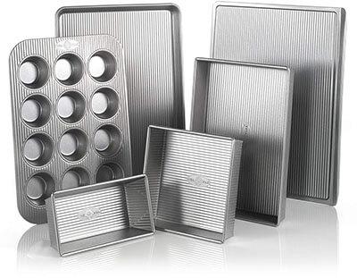 USA Pan Aluminized 6 Pieces Baking Set
