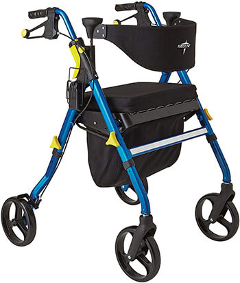 Medline Premium Empower- Folding Mobility Rollator Walker