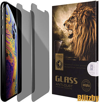 Blitzby iPhone XS Max Privacy Anti Spy Screen Protector