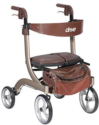 Drive Medical Nitro DLX Euro-Style Walker Rollator