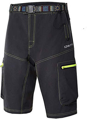 Ynport Men's Fast Dry Mountain Bike Cycling Pants Loose Fit MTB Shorts