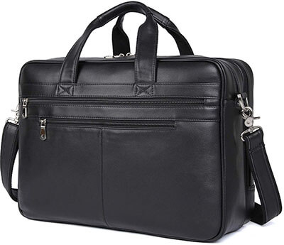 Polare Real Soft Nappa Leather 17 inch Laptop Case Bag