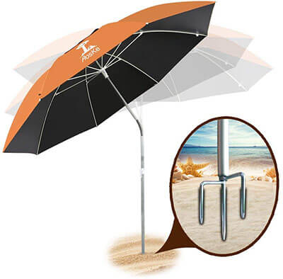 AosKe Portable Suns Shade Umbrella, Inclined design with Heat Insulation