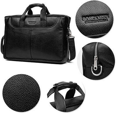 BOSTANTEN Leather Briefcase Laptop Handbag Messenger Business Bags
