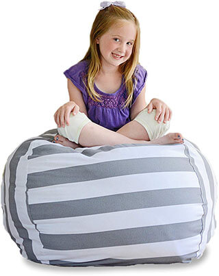 Creative QT Extra Large Stuffed Animal Storage Bean Bag Chair for Kids