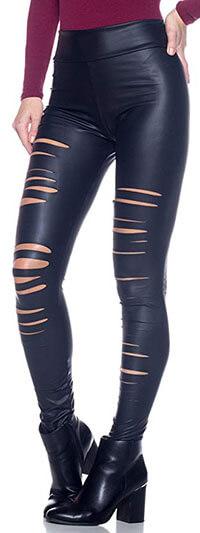 Cemi Ceri Women's J2 Love Ripped Legging Faux Leather