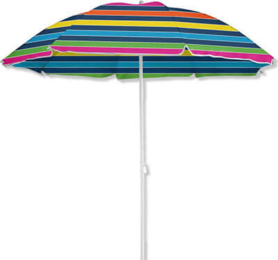 Caribbean Joe CJ-UV72RBST 6-foot Beach Umbrella